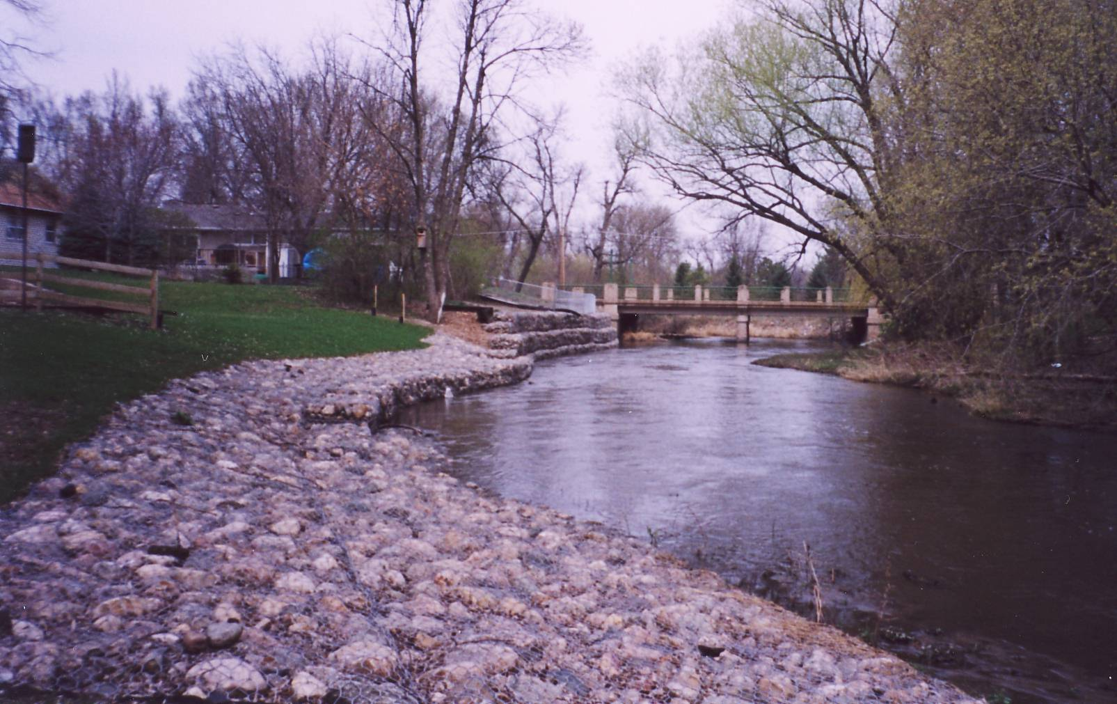 Photo of BMP gabion after construction.