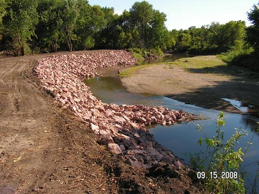 Photo of BMP stream barb