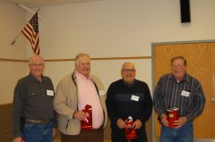 Retiring RCRCA Board Members: Bob Moline, Louis Sherlin, Rodney Stensrud and Burton Kuehn.