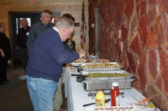 Photo of banquet line at the Annual Legislative Gathering.