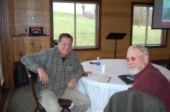 Photo of Cottonwood SWCD Supervisor Clark Lingbeek and Brown SWCD Greg Roiger.