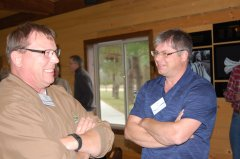 Photo of Murray County Ditch Inspector Howard Konkol and Pipestone SWCD Administrator Kyle Krier.