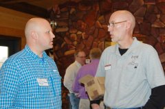 Photo of DNR Lucas Youngsma and  MN SW Research & Outreach Jeff Strock (guest speaker).