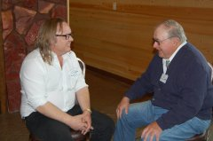 Photo of Pipestone County Commissioner Luke Johnson and Former Lyon County Commissioner Phil Nelson.