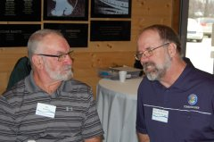 Photo of Lincoln County Commissioner Mic VanDevere and Pipestone County Commissioner Dan Wildermuth.