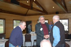 Photo of Former Lyon County Commissioner Phil Nelson with Senator Bill Weber and Murray County Commissioner Glenn Kluis.