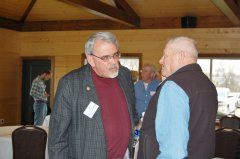 Photo of Senator Bill Weber speaking with Murray County Glenn Kluis.