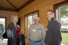 Photo of LQP-YB Watershed District Administrator Trudy Hastad, LQP-YB WD Managers Darrel Ellefson and Tim Dritz.