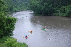 Photo of canoers going down the Cottonwood River.