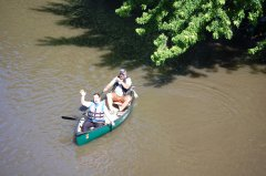 Photo of Lincoln SWCD Employees in a canoe.