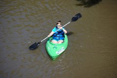 Photo of woman in kayak.