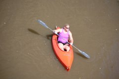 Photo of a woman in kayak.