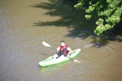 Photo of a man in a kayak.