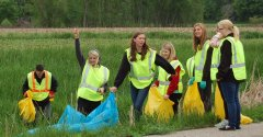 Photo of 2015 Adopt-A-Highway project - students completed the ditch cleaning project.